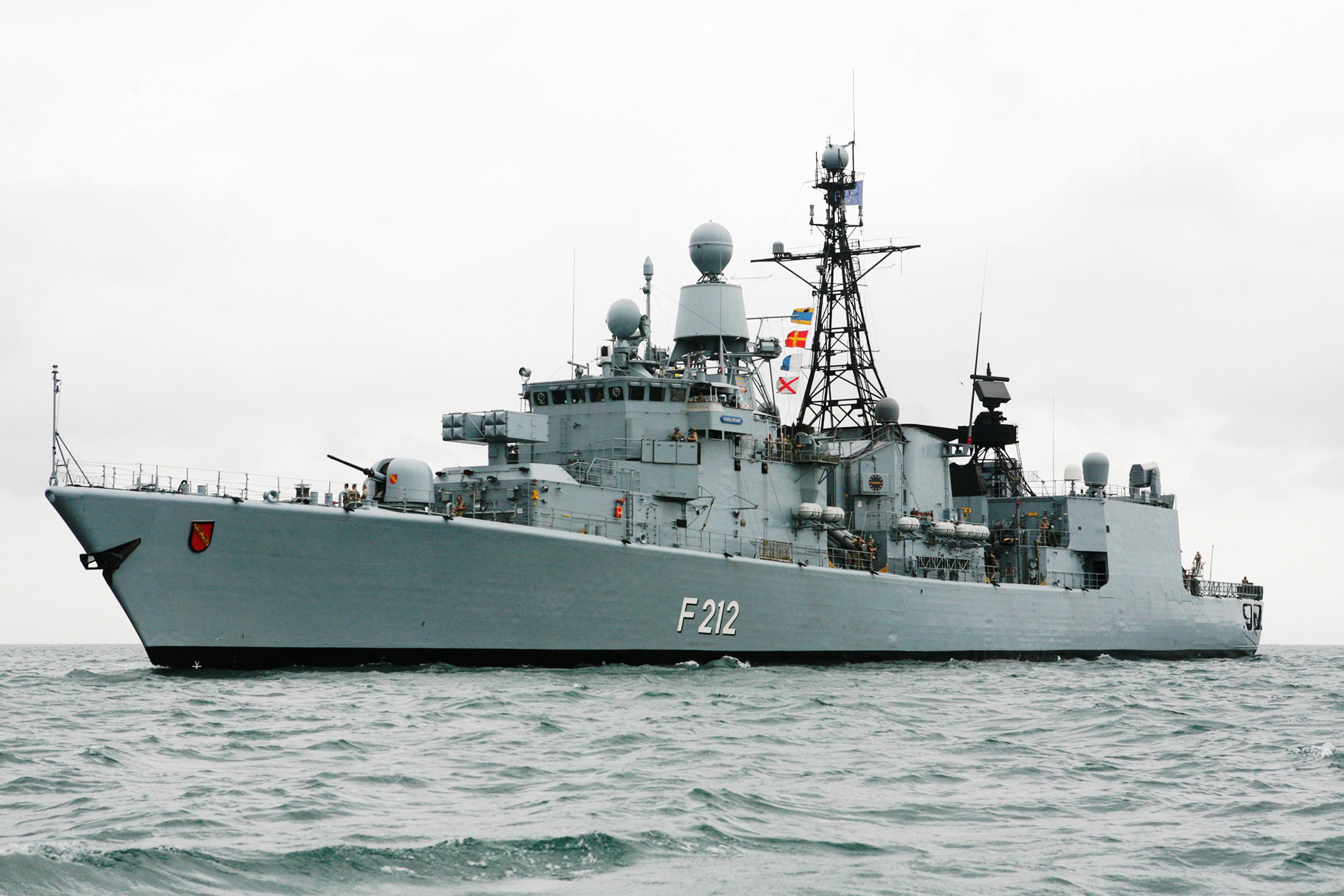 Fregatte Karlsruhe Verl 228 Sst Bis April 2013 Wilhelmshaven