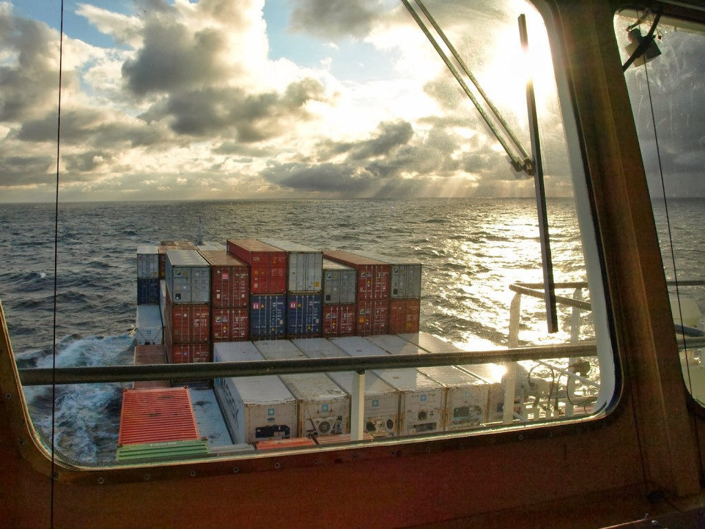 Auflockerung mit Sonnenschein auf der Ostsee