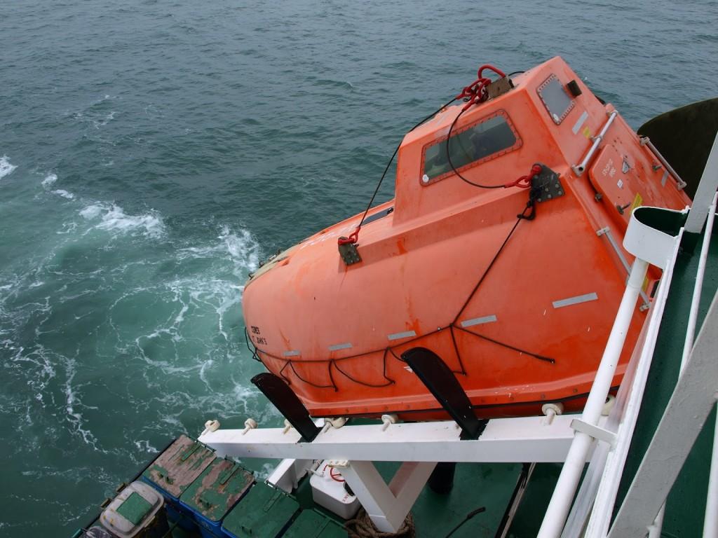 Das Rettungsboot ist ausgestattet mit moderner Technik, Proviant und Frischwasser