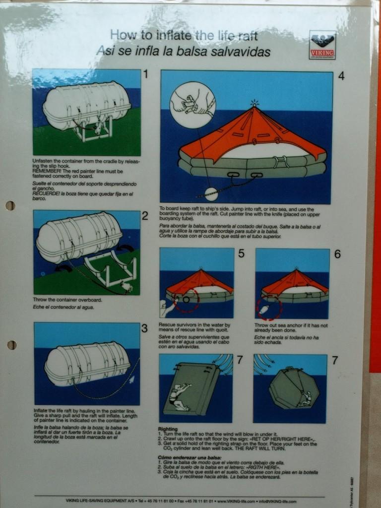 Hinweise zur Verwendung der Rettungsinsel