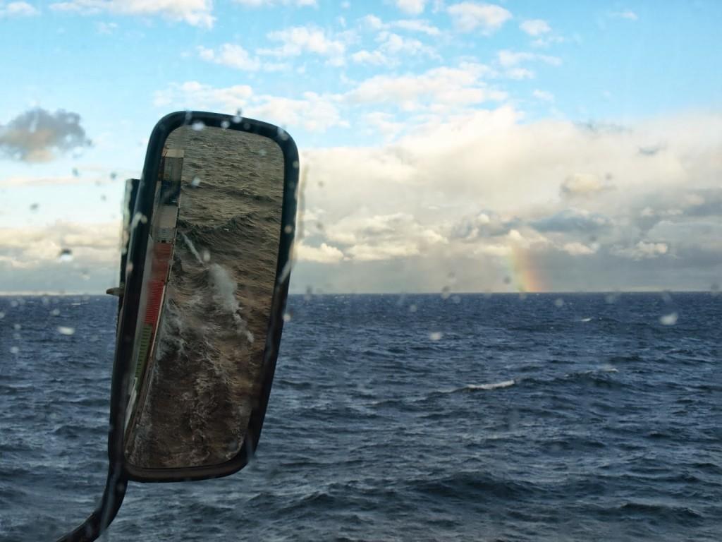 Regenbogen auf See