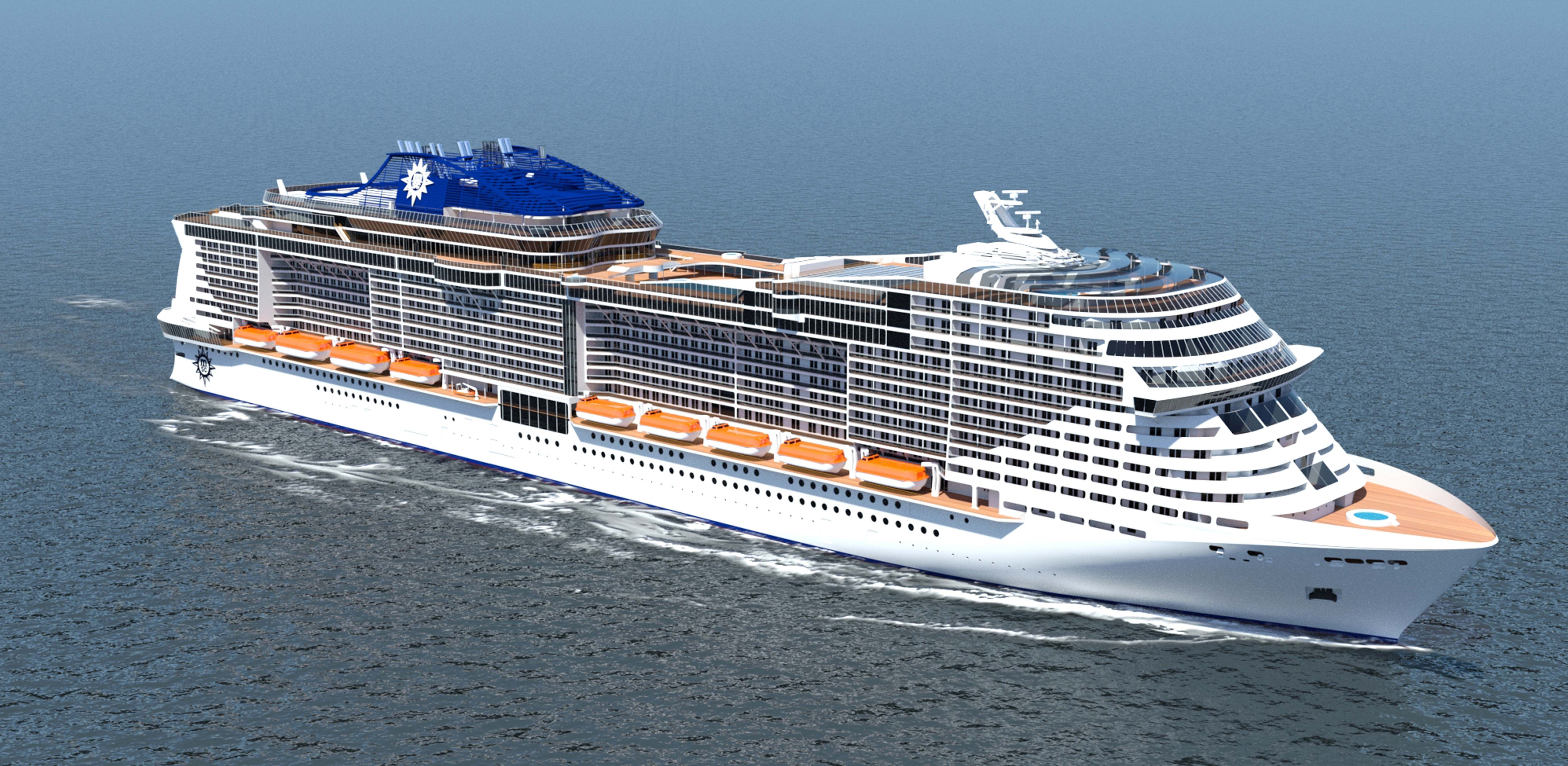 photo of msc newbuild cruiseind