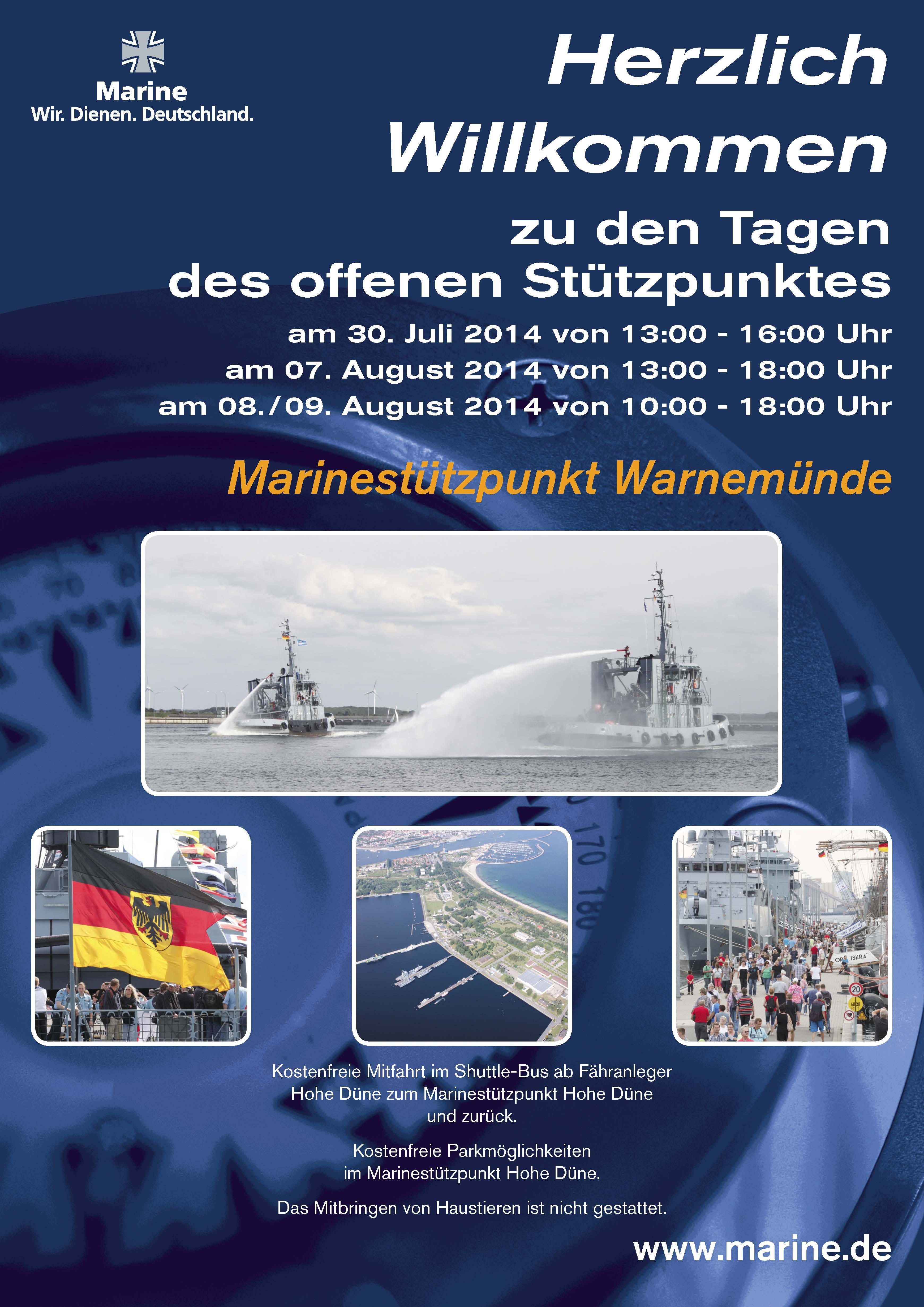 Marine lädt zum Tag des offenen Stützpunktes im Rahmen der Hanse ...