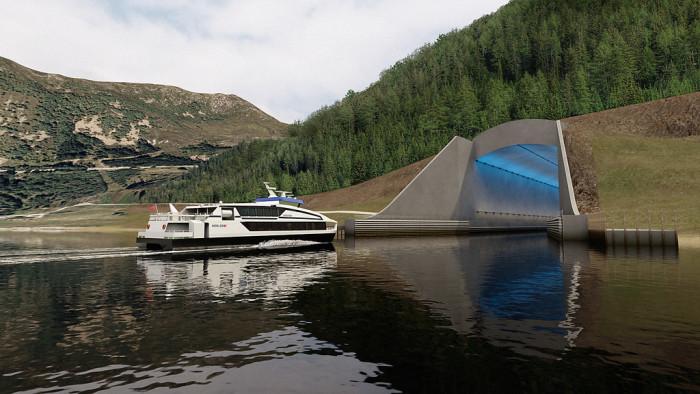 Norwegen Schiffstunnel