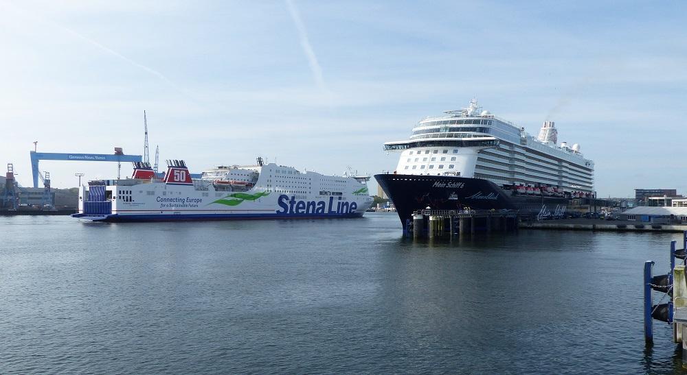 Mein Schiff 6 Im Kieler Seehafen Eingetroffen Neubau Von Tui