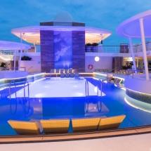 Mein Schiff 1 TUI Cruises Taufe in Hamburg-Lagune Pooldeck
